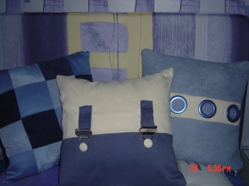 house and cushions
